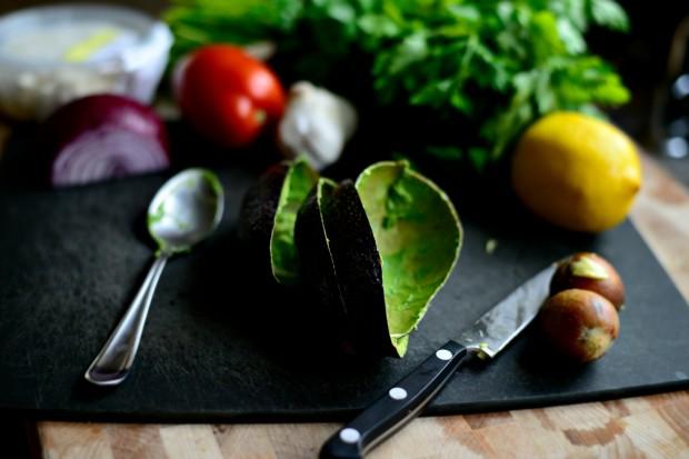 Avocado + Feta Guacamole www.SimplyScratch.com shells