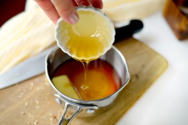 Fruit and Nut Granola l www.SimplyScratch.com honey