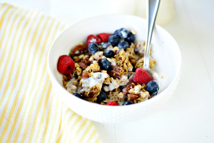 Soft and Chewy Fruit and Nut Granola