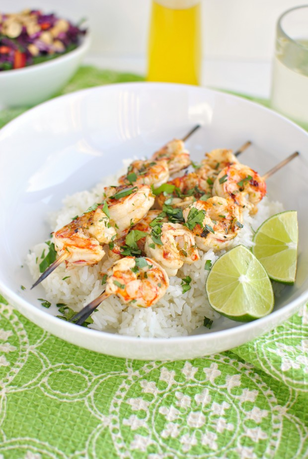 Simply Scratch Grilled Garlic Lime Shrimp Skewers - Simply Scratch