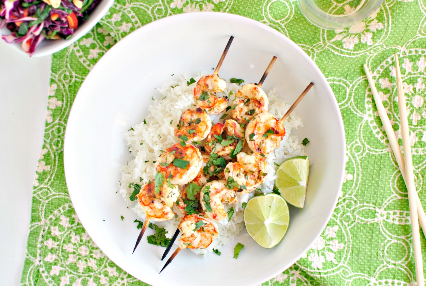Simply Scratch » Grilled Garlic and Lime Shrimp Skewers » Print