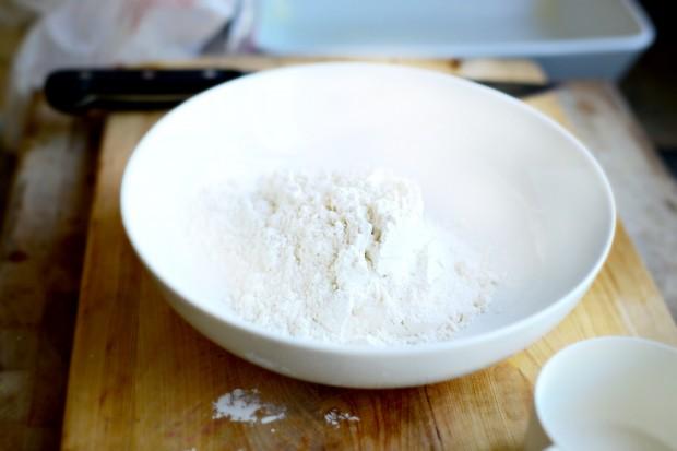 Rhubarb Crumble l www.SimplyScratch.com flour