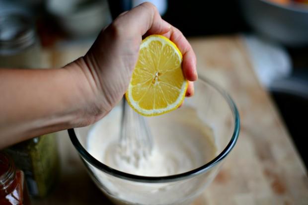 Southwest Potato Salad l www.SimplyScratch.com squeeze in lemon juice