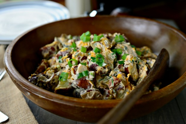 Southwest Potato Salad via www.SimplyScratch.com