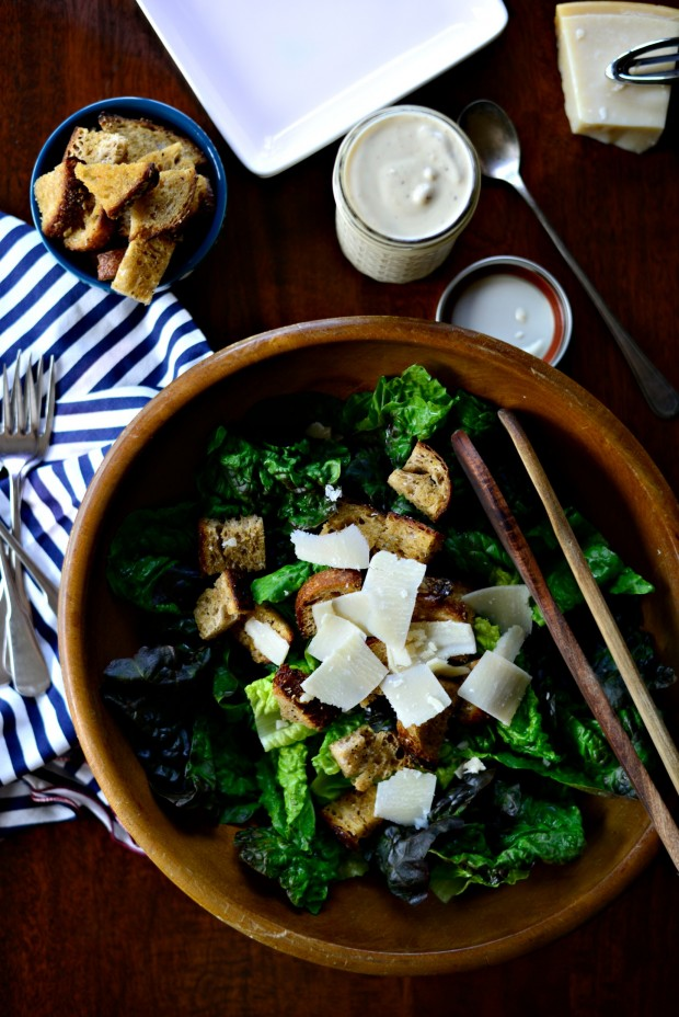 Caesar Salad with Homemade Caesar Dressing and Croutons l www.SimplyScratch.com (27)