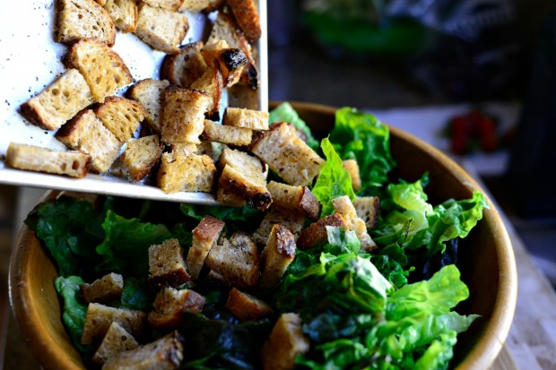 Caesar Salad with Homemade Caesar Dressing and Croutons l www.SimplyScratch.com (29)