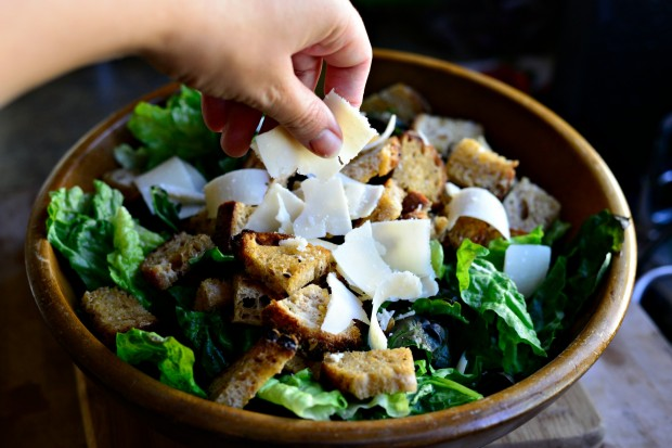 Caesar Salad with Homemade Caesar Dressing and Croutons l www.SimplyScratch.com (30)