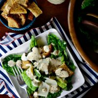 Caesar Salad with Homemade Caesar Dressing