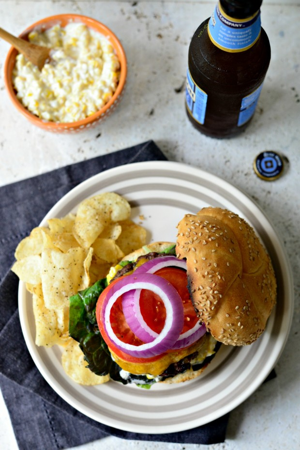 Jalapeno + Cheddar Burgers with Grilled Corn Mayo ll www.SimplyScratch ...