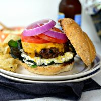 Jalapeño Cheddar Burger with Charred Corn Mayo