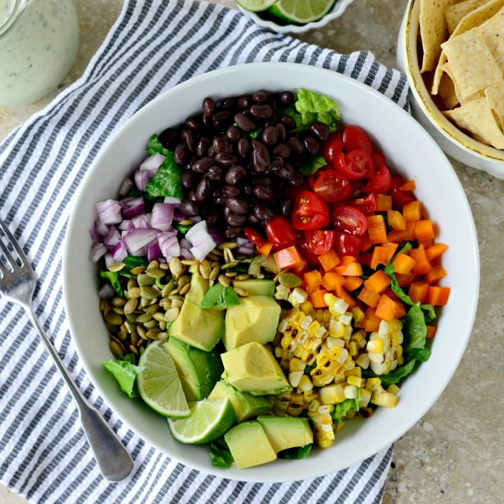 Mexicali Chopped Salad with Creamy Cilantro Lime Dressing