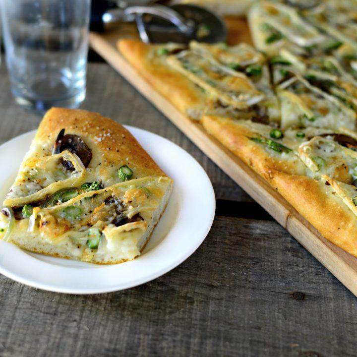 Asparagus, Mushroom Shallot Flatbread