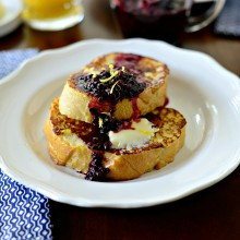 Buttermilk French Toast with a Quick Blackberry Maple Compote www.SimplyScratch.com  (6)