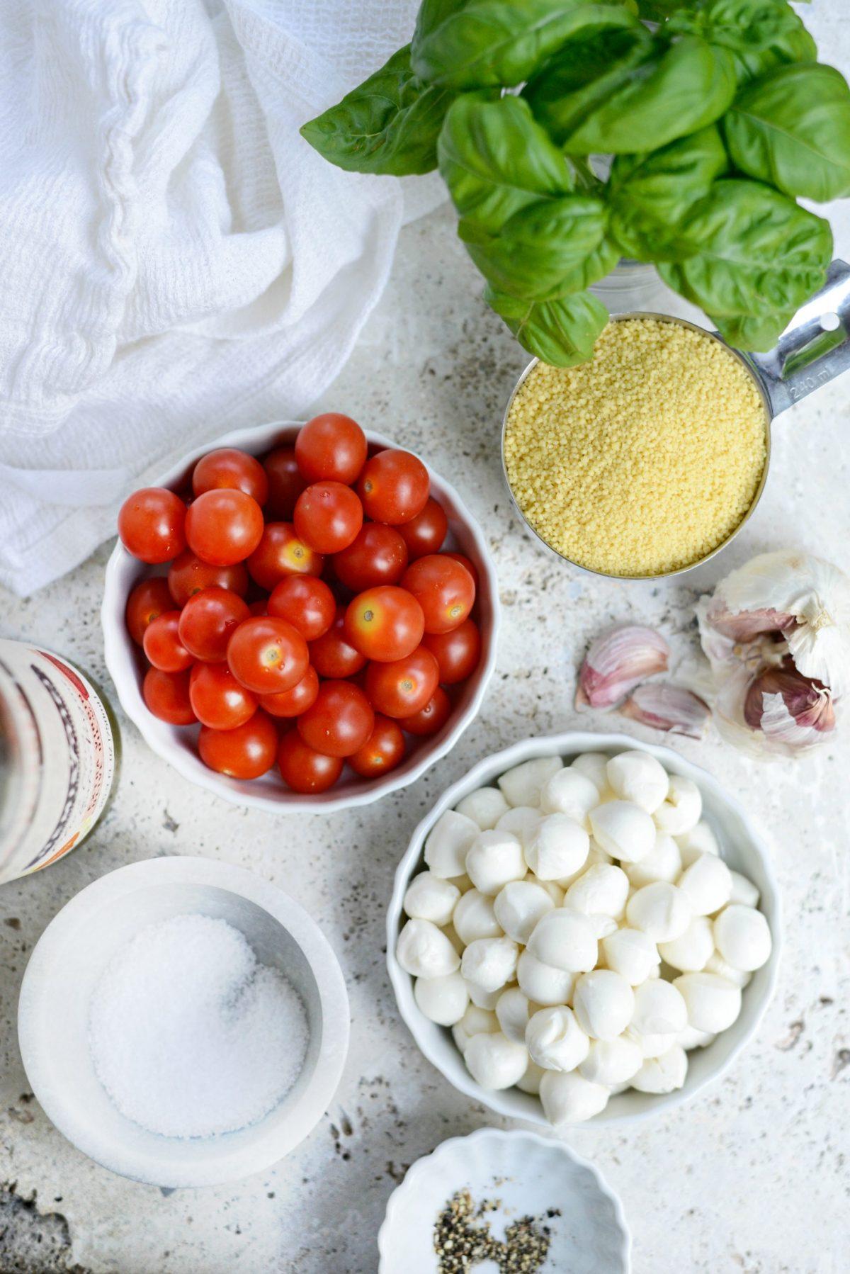 Caprese Couscous Salad l SimplyScratch.com