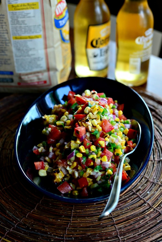 Grilled Corn Pico de Gallo ll www.SimplyScratch.com