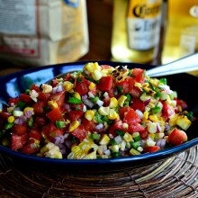 Grilled Corn Pico de Gallo www.SimplyScratch.com