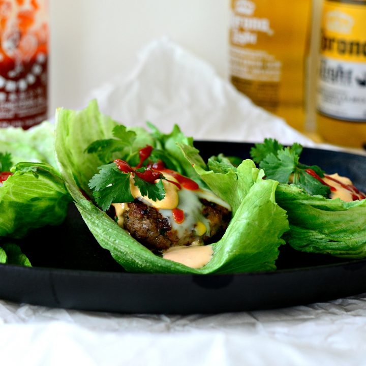 Spicy Sriracha Steak Burgers