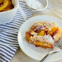 Brown Butter Peach Cobbler l www.SimplyScratch (14)