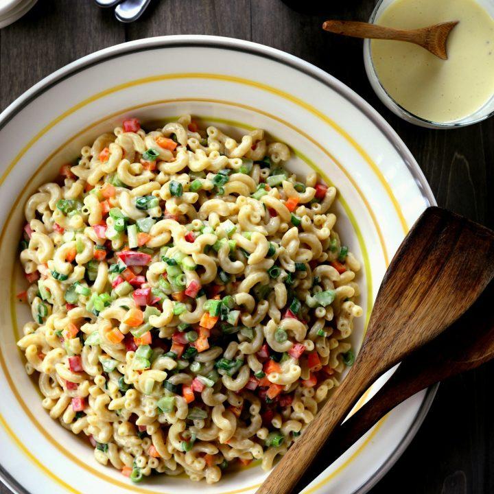 Classic Macaroni Salad + Homemade Dressing
