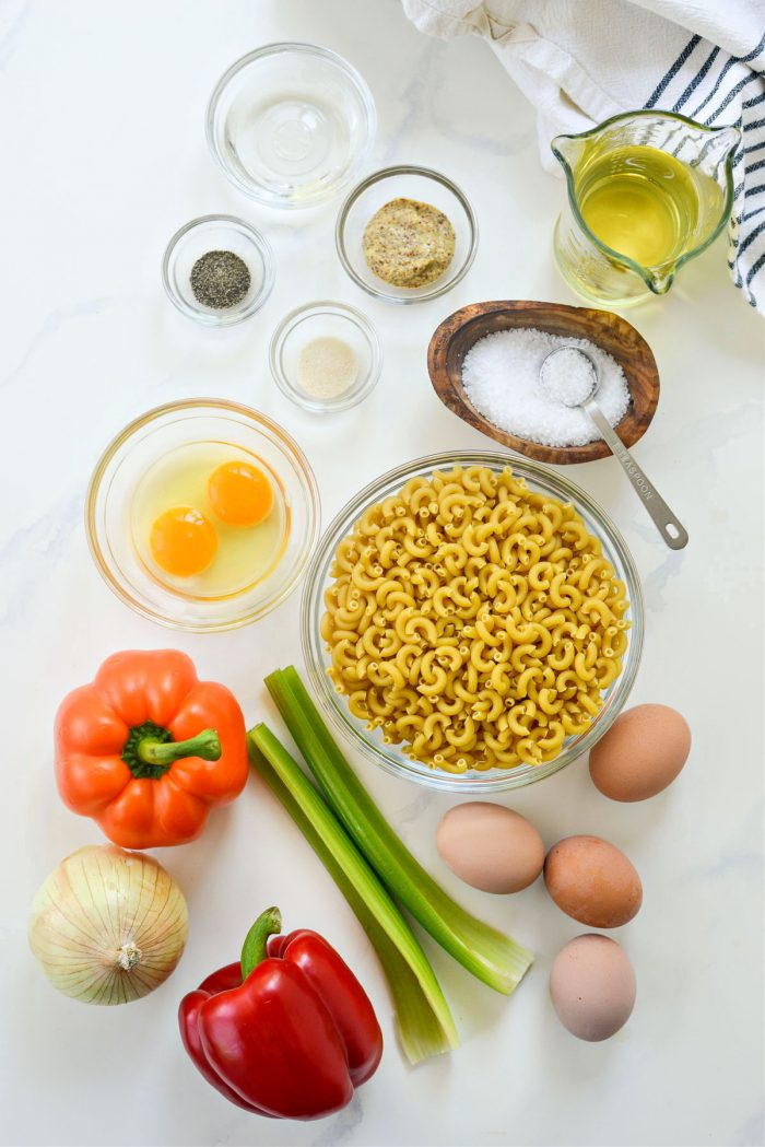 Classic Macaroni Salad ingredients