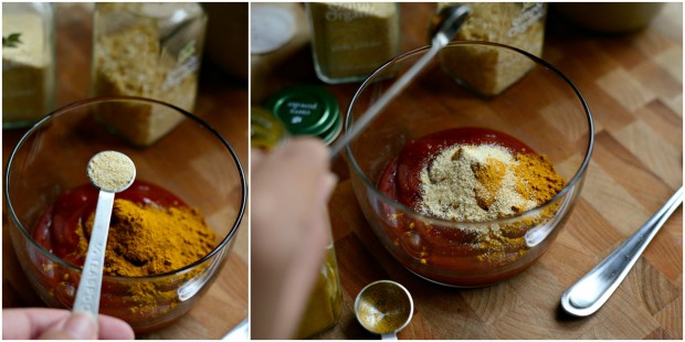 Crispy Baked Kale Chips + Quick Curry Ketchup l www.SimplyScratch.com 3