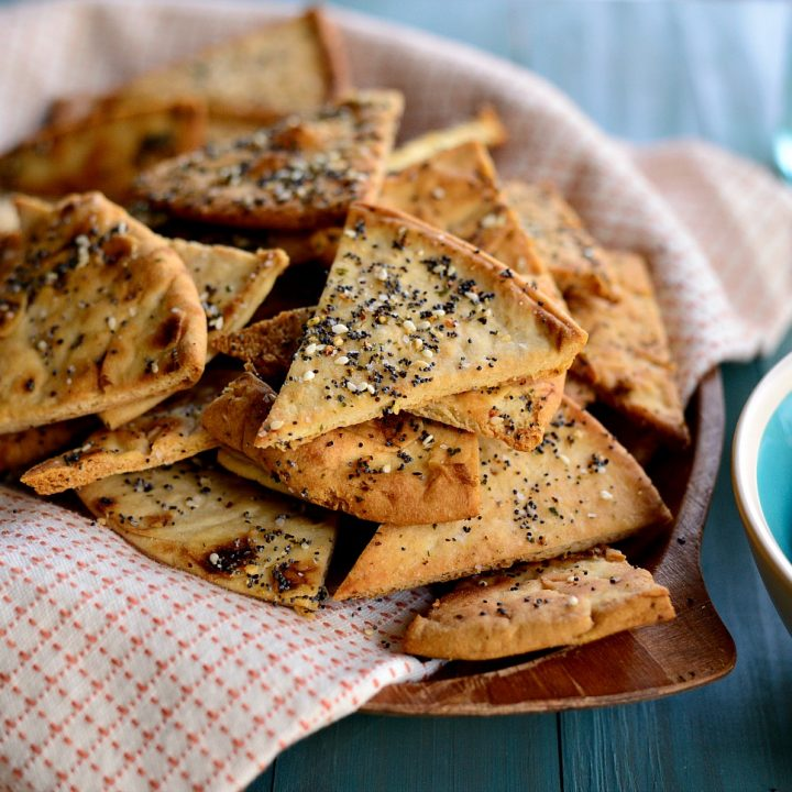 Everything Baked Pita Chips
