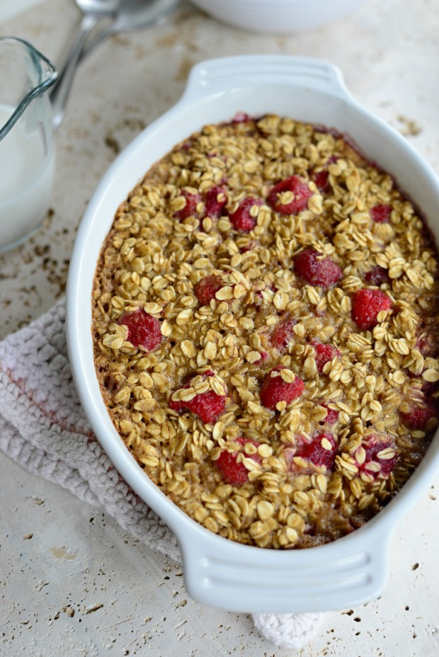 Baked Raspberry Oatmeal with Brown Butter Drizzle l SimplyScratch.com (16)