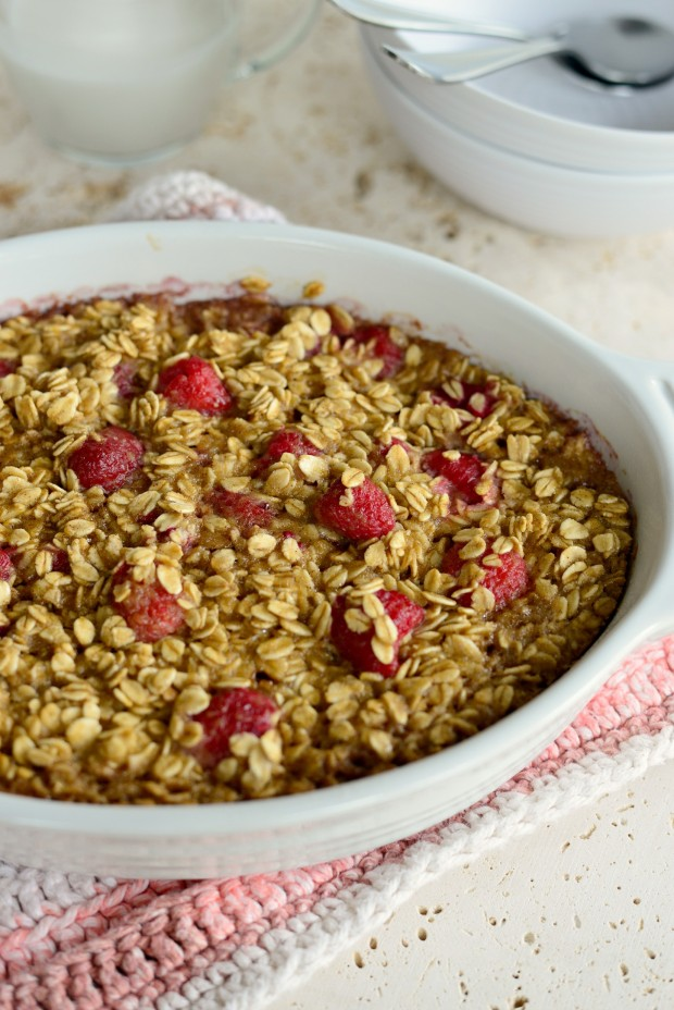 Baked Raspberry Oatmeal with Brown Butter Drizzle l SimplyScratch.com (17)