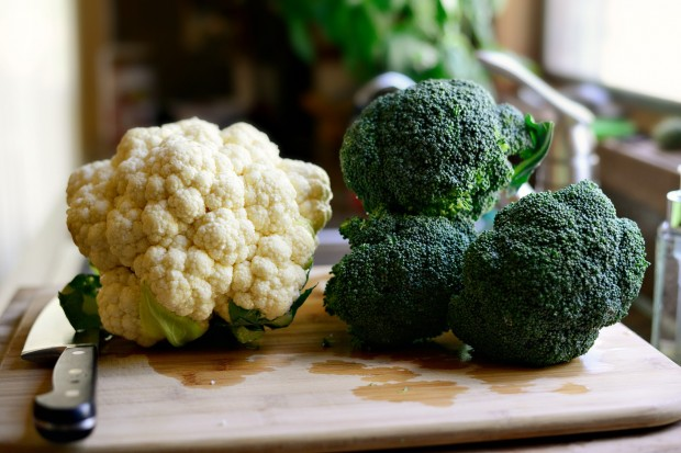 ... largest head of cauliflower and broccoli you can lay your mitts on
