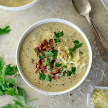Roasted Broccoli + Cauliflower Soup l SimplyScratch.com  (38)