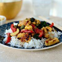 Spicy Cashew Chicken Stir-fry