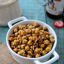 Honey Sesame Roasted Chickpeas l SimplyScratch.com  (14)