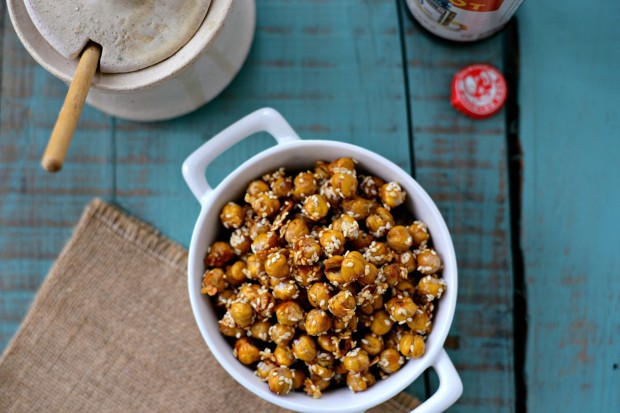 Honey Sesame Roasted Chickpeas l SimplyScratch.com (15)