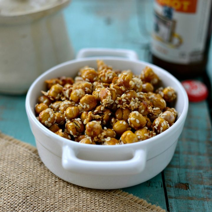 Honey Sesame Roasted Chickpeas