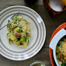 Bacon + Brussels Sprout Gratin l SimplyScratch.com  (23)
