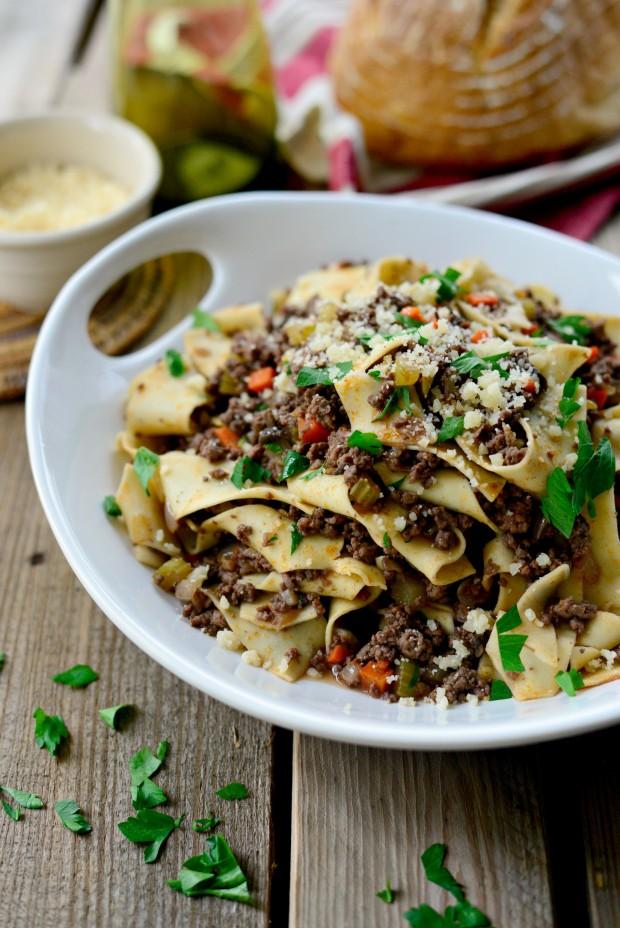 Venison Mushroom Pappardelle l SimplyScratch.com