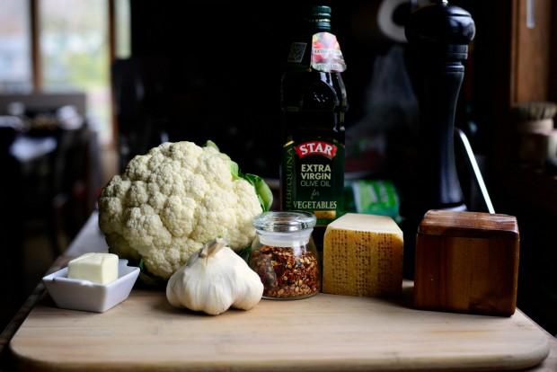 Skillet Parmesan Garlic Cauliflower l SimplyScratch.com (1)