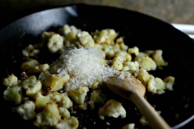 Skillet Parmesan Garlic Cauliflower l SimplyScratch.com (12)