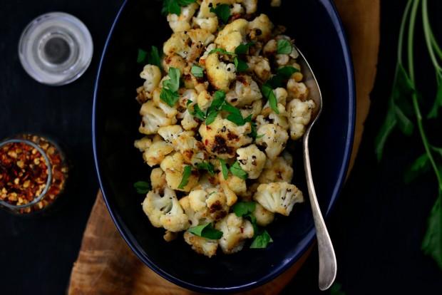 Skillet Parmesan Garlic Cauliflower l SimplyScratch.com (13)