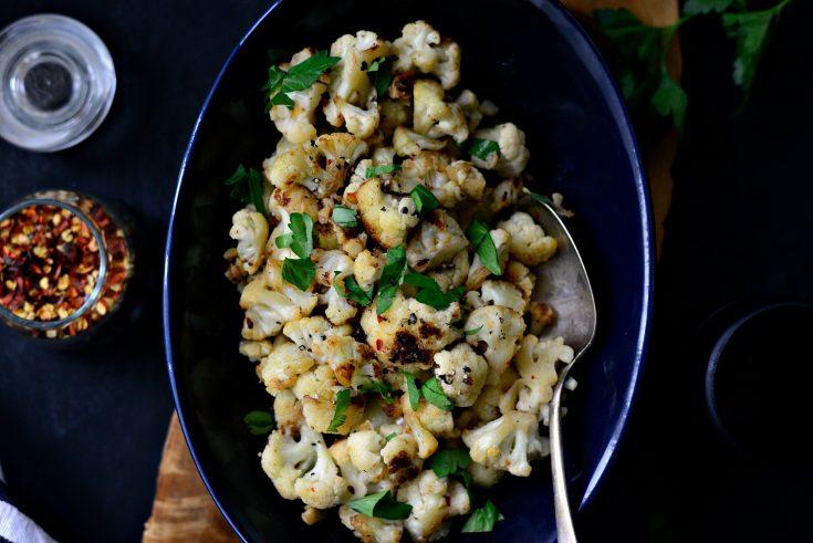20-minute Skillet Parmesan + Garlic Cauliflower