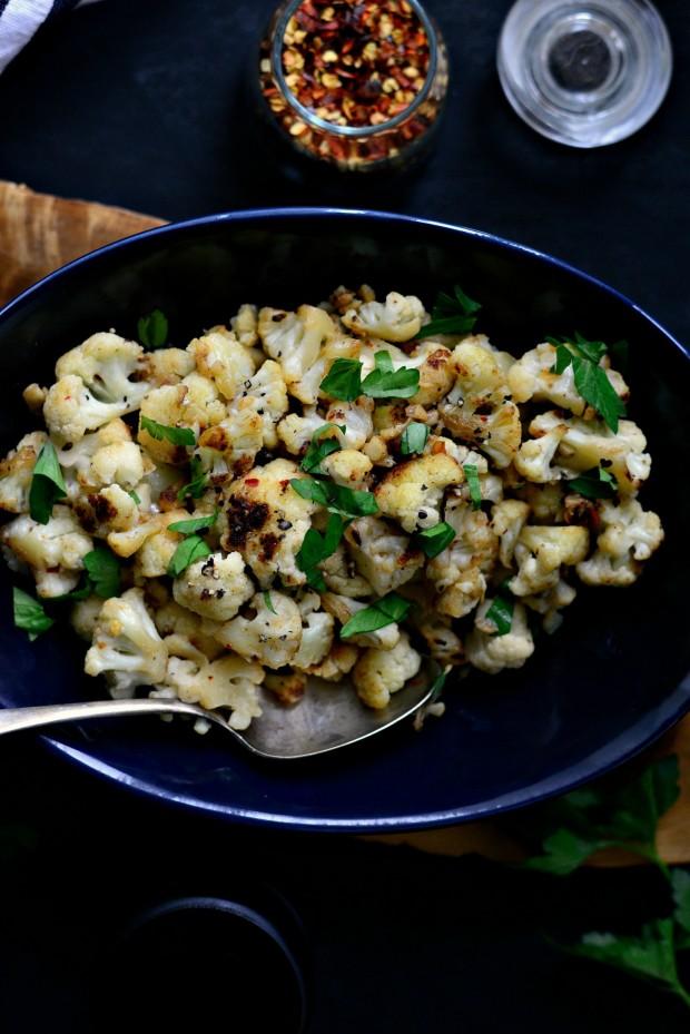 Skillet Parmesan Garlic Cauliflower l SimplyScratch.com (17)