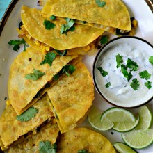 Corn, Poblano + Onion Yellow Corn Quesadillas l SimplyScratch.com  019