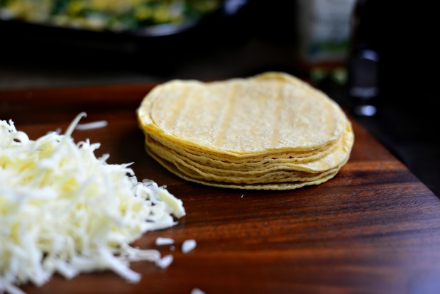 Corn, Poblano + Onion Yellow Corn Quesadillas l SimplyScratch.com (8)