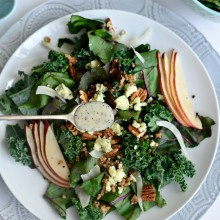 Winter Kale + Beet Greens Salad l SimplyScratch.com  (15)