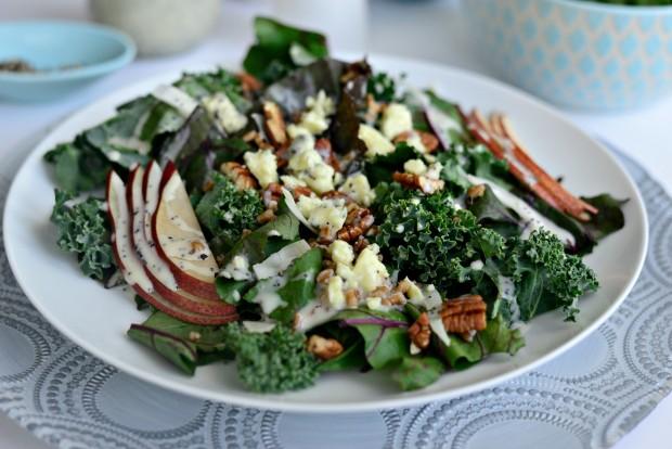 Kale and Beet Greens Salad l SimplyScratch.com