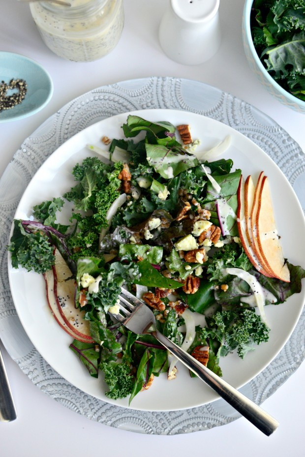 Kale and Beet Greens Salad l SimplyScratch.com