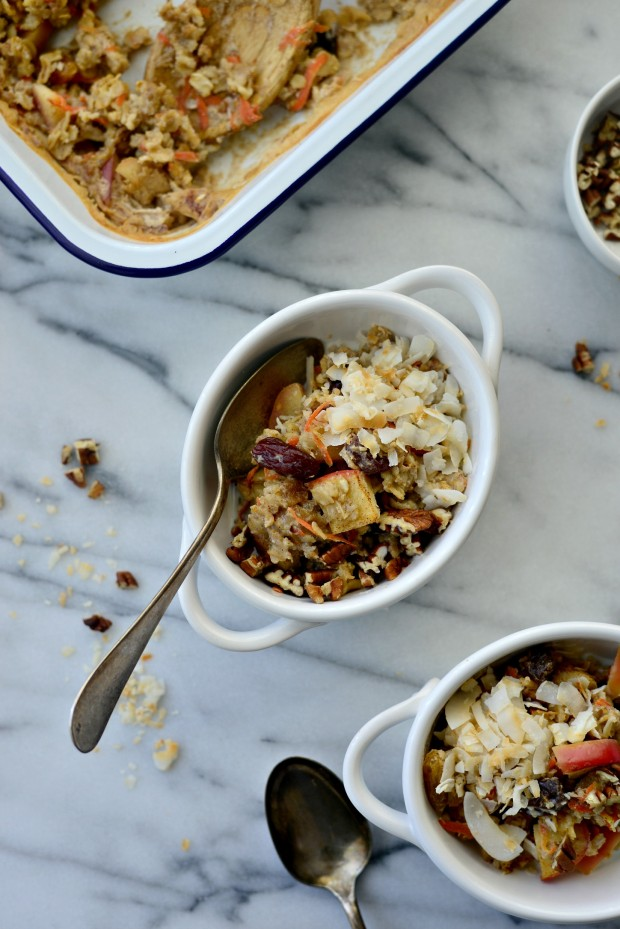 Apple, Carrot + Raisin Baked Oatmeal l SimplyScratch.com (23)