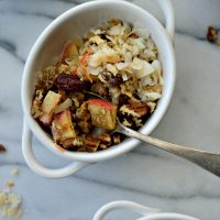 Apple, Carrot + Raisin Baked Oatmeal