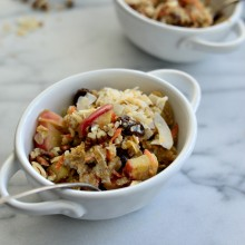 Apple, Carrot + Raisin Baked Oatmeal l SimplyScratch.com  (27)