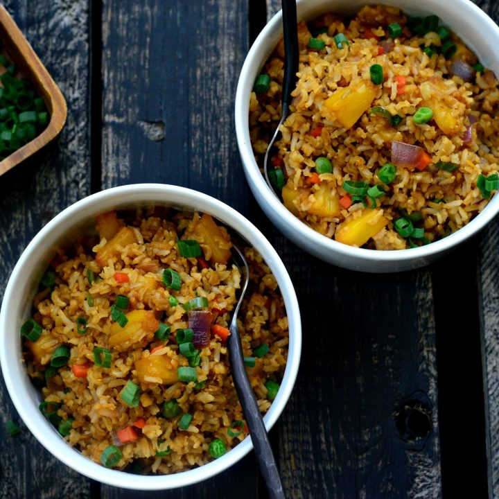 Spicy Ginger Pineapple Fried Rice